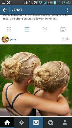3 mini braids bun