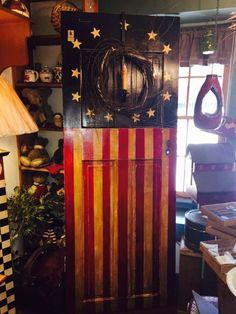 Hand-Painted Door #Americana