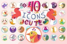 Check out Cute Icons by marushabelle on Creative Market