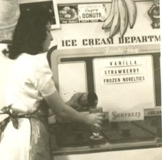Young Woman - Waitress working in Ice Cream Parlor - 1940 Old Vintage Photo | eBay