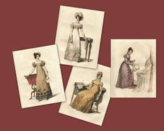 Items similar to Elegant Regency Print Collection Home Decor or Greeting Cards Jane Austen Style Fashion on Etsy Jane Austen, Fashion Prints, Style Fashion, Lost, Fashion Plates, Elegant, Regency, Thank You Cards, North America