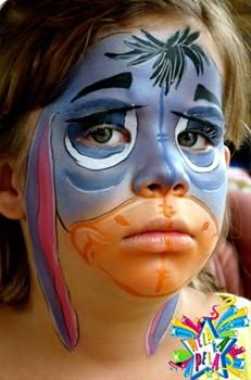 eeyore face paint - Google Search