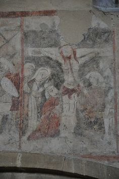 South Newington St Peter ad Vincula 15th century series above north arcade of nave depicting the Passion -110