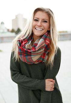 Lowest Price! Plaid Infinity Scarves - 8 Options!  - Photo 19