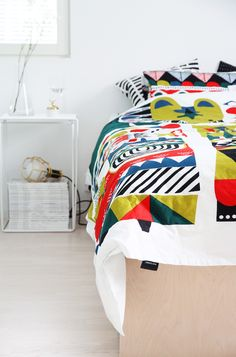 hunajaista marimekko lakanat sanna annukka Marimekko, Comfort Zone, Comforters, Blanket, Lovely Things, Bed, Designers, Inspiration, Furniture