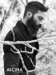 I NEVER EVER think anything positive about beards but, this one is the first one that has ever appealed to me.  Sasha Marini for Alcina by Carlo Battillocchi