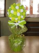 drzewka,drzewko z krepiny,kwiaty róże rękodzieło komunia wesele