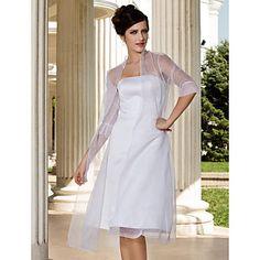 Party/Evening Organza Coats/Jackets 3/4-Length Sleeve Wedding  Wraps – USD $ 19.99