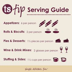 Use this handy serving guide to determine how much to serve up your guests at your next party! Homemade Cooking Spray, Oil Substitute, Tastefully Simple Recipes, How To Make Sandwich, Cookery Books, Simple Pictures, Served Up, Wine Drinks, Have Time