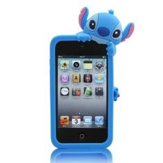 Amazon.com: Blue Disney Stitch Hide and Seek Silicone Case Cover for IPod Touch 4/4G/4th generation + 3D Stitch STYLUS PEN with Anti Dust Plug: Electronics