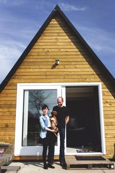 Reader Inne Van Engeland and her partner are enjoying the small house life in a tiny A-frame cottage. We'll let her tell you more…… Hello, This is our small house near the city of…