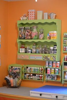 Craft Paint Storage u2013 Spice Racks Repurposed - How to Use Them to Create Beautiful Wall & 184 best craft room ideas images on Pinterest | Home ideas ...