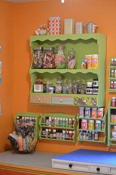 Craft Paint Storage – Spice Racks Repurposed - How to Use Them to Create Beautiful Wall Storage!