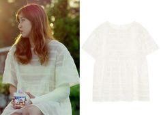 "Gong Hyo-Jin 공효진 in ""It's Okay, That's Love"" Episode 8.  Push Button Loop Organza Dress #Kdrama #ItsOkayThatsLove 괜찮아, 사랑이야 #GongHyoJin"