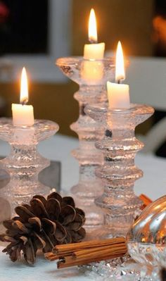Candle Lanterns, Candle Jars, Candle Holders, Christmas Makes, Winter Christmas, Chandeliers, Candle In The Wind, Scandinavian Design, Candlesticks