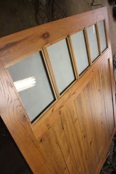 This Large Barn Door Room Divider is made from Reclaimed Oak Barnwood by Whatman Hardwoods! Room Divider Doors, Barn Wood Projects, Reclaimed Barn Wood, Hardwood, Mirror, Furniture, Home Decor, Natural Wood, Decoration Home