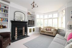 4 bedroom semi-detached house for sale in Brampton Road, St. Home Living Room, Living Room Decor, Living Spaces, House Extension Plans, Extension Ideas, 1930s Semi Detached House, Victorian Style Homes, House Extensions, First Home