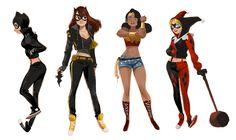 Artista faz redesign das garotas da DC inspirada em street style | Nerdivinas