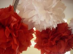 Alabama Party Pom Pom's  or pick your team or by TouchdownTutus, $12.00