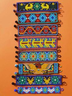 Huichol Bracelets - Latin - Mexican Folk Art Craft #ThirtyDaysofInspiration