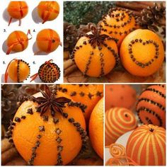 "Weihnachtsschmuck basteln - kreative Bastelideen mit Orangen Weihnachtsschmuck basteln orangen mit nelken knospen Mehr Artes y manualidades ¿Qué son las ""artes y manualidades""? Natural Christmas, Noel Christmas, Victorian Christmas, Homemade Christmas, Winter Christmas, Christmas Ornaments, Christmas Oranges, Ornament Crafts, Christmas Projects"