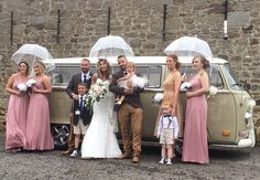 Congratulations to Sophie and Paul on their wedding at High House Farm Brewery. VW Deluxe Weddings, VW Campervan wedding hire throughout the North East of England.