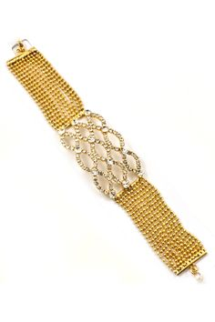 Gold Crystal Marquise Bracelet | Awesome Selection of Chic Fashion Jewelry | Emma Stine Limited