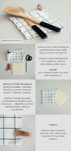 PATALAPPU VANHASTA KEITTIÖPYYHKEESTÄ / DIY LOKAKUU