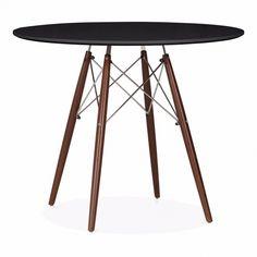 Eames Inspired Schwarz DSW Runder Esszimmertisch - 90cm Durchmesser - Eames Inspired von Cult Furniture UK