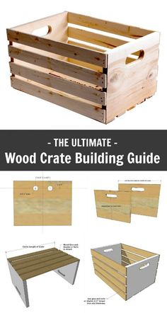 Teds Woodworking - Ana White Wood Crate Building Guide - DIY Projects - Projects You Can Start Building Today Easy Woodworking Projects, Woodworking Projects Diy, Popular Woodworking, Diy Wood Projects, Woodworking Plans, Woodworking Classes, Fun Projects, Woodworking Machinery, Woodworking Workshop