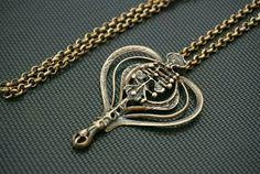 Unn Tangerud for Uni David Andersen (NO), vintage modernist bronze necklace, 1960s. #norway   finlandjewelry.com #forsale