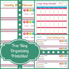 Blog Organization Printables
