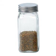 RSVP Square Glass Spice Jar