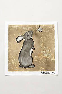 Gilded Bunny Print. Anthropologie.