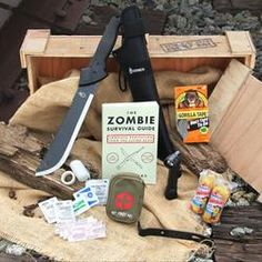 Zombie Survival Crate ~I've got the machete and the book. Just need the rest.