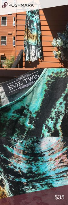 EVIL TWIN galaxy print hi low dress XS EVIL TWIN galaxy print hi low dress XS. Keyhole closure in back. Brand new never worn evil twin Dresses