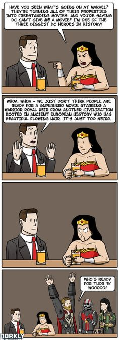 WonderWoman. But seriously, I want my Wonder Woman movie.