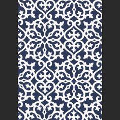 Papiers peints Allison - Navy Blanc, Bleu