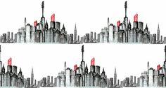 A makeup cityscape.