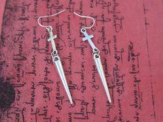 Cross Earrings Tibetan Silver Cross Earrings by SpoiledRockN, $12.50