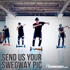 Fancy a shout out on our social media channels? Of course you do! Post a pic of you and your Swegway and next week we will pick our favourite. The most creative pic wins!
