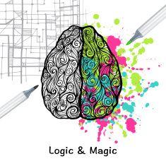Left And Right Brain vector art illustration