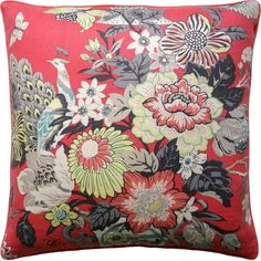 DecoratorsBest Discount Fabric and Wallpaper Online Store Portobello, Coral Throw Pillows, Floral Pillows, Modern Decorative Pillows, Wallpaper Online, Best Pillow, Fine Linens, Luxury Decor, Interior S