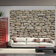 Fotobehang - Provençaalse stenen - 300x231 / grijs