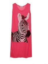 Pink Street Round Neck Sleeveless Zebra Print Shirt $31.59