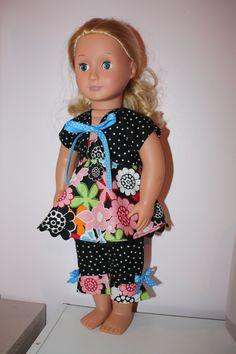 Black polka dot summer outfit
