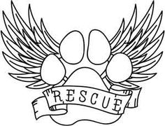 "Rescue Paw design (UTH3541) from UrbanThreads.com 7.60""w x 5.87""h"