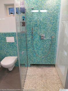 Kylpyhuone välimeren värein #suihku #wc #styleroom #inspiroivakoti #turkoosi Täällä asuu: heidiekholmtalas