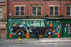 Pot plants do not collect vintage cars, Sheffield — agostino iacurci Adobe Creative Cloud, Mural Painting, Sheffield, Potted Plants, Vintage Cars, Around The Worlds, Architecture, Building, Instagram Posts