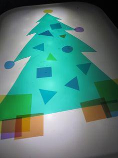 light table Christmas tree play